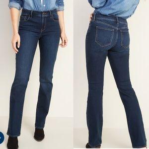 NWT Mid-Rise Dark-Wash Kicker Boot-Cut Jeans